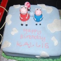 Peppa Pig My 3rd cake for my Nieces 2nd Birthday. First time using 50/50 combo for the figures and boy did it make a great difference! Just need to...