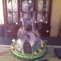 Castle Dracula   This was done for my holloween party!