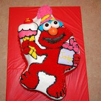 Elmo Character Cake 2 Tier elmo pan, buttercream icing,fondant eyes and nose. This cake was very high thanks 4 lookin