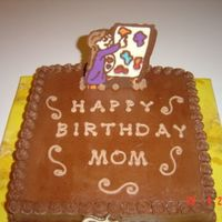 An Artist's Birthday Cake It is 1/2 chocolate 1/2 vanilla, buttercream icing, chocolate transfer easel. Thanks 4 lookin!
