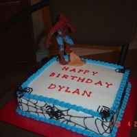 Choc Spiderman Choc transfer spiderman with buttercream accents