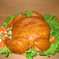 Roasted Turkey Here is my version of the roasted turkey cake.Happy Thanksgiving!