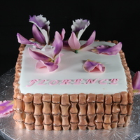 Bamboo Orchid Cake
