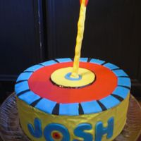 Target And Arrow Cake For my son, who got a beginner's bow and arrows for his 8th birthday.