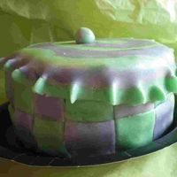"Tuffet 6"" covered in fondant. One of the 12 sunday school cakes."