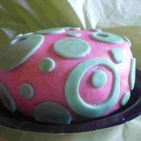 "Circle Shmirkle 6"" covered in fondant. One of the 12 sunday school cakes."