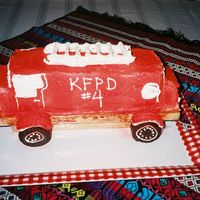 Fire Truck From Heck This is what happens when one doesn't plan ahead or allow time to fix mistakes. I HATE this cake, but my son and his b-day party...