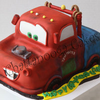 Mater Truck Cake Made for a 7 yr old's birthday. Rich chocolate cake with vanilla icing (his request) covered in fondant. I know the design doesn'...