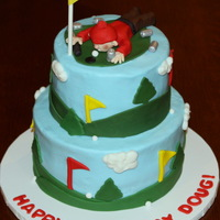 Golf And Beer Cake This is similar to a design I've done before but this time my customer wanted the golfer to have a club in one hand a beer can in the...