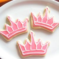 Princess Cookies My first real try at decorating cookies and used Toba's glaze