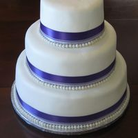 Wedding Cake Wedding cake in 6, 9, and 12-inch tiers. The cake is a variation of the Sour Cream Almond White cake (replace the almond flavoring with...