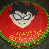 Robin From Teen Titans Cartoons I made this cake for my husband's 29th birthday. buttercream and fondant.