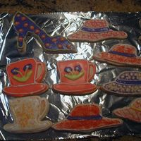 More Practice Cookies More cookies to go along with the shoes. This is my first real cookie attempt. I learned lots. They will be better next time.