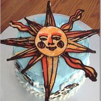 Whimsical Bakehouse Inspired Sun Cake Yellow cake with lemon buttercream and fresh raspberry filling. Bakehouse buttercream recipe and chocolate transfers.