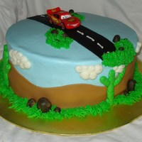 Cars/ Lightning Mcqueen Birthday Cake