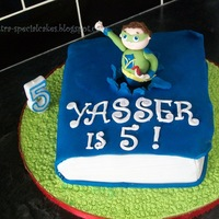 Super Why Cake A super why book cake for my son who loves this tv programme.It was totally last minute and I didnt have time to add the rest of the...