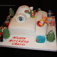 Club Penguin Cake Another club penguin cake similar to the first one but changed it a little. Thanks for looking!!