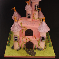 Princess/fairytale Castle Cake A 2-tier castle cake I made for a little girl turning 5.TFL