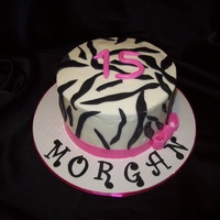 Zebra Print   Zebra Cake for my friends 15yr old daughter who shares my bday!