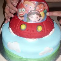 Rocket  This cake was inspired from layersoflove, it was for our Godson's 3rd b-day. He loved it! Dome of Rocket and boosters were from RKT. I...