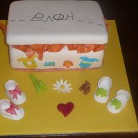Rafi Cake Cake made for a Christening shop. Lid was RKT.