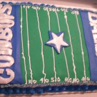 Dallas Cowboys Birthday The Dallas Cowboys birthday cake that I made for my husband. My lines got a little crooked but all in all I was happy with it and so was my...