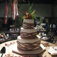 Brown And Ivory I have been wanting to do a cake like this for a while, and a bride finally picked it :). This is my favorite creation yet. Each tier was...