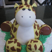 Girraffe Baby Shower Giraffe. Mimicked another cake from this site. All fondant