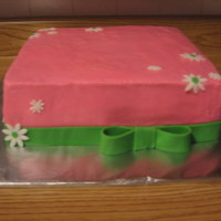 Wedding Shower Taken before the lettering was put on. The wedding colors were green and pink and the flower was daisy.
