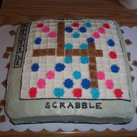 Scrabble Cake Scrabble themed bridal shower, all buttercream except for scrabble pieces which are fondant