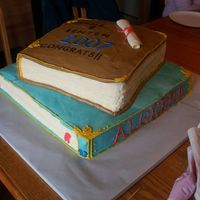 Double Graduation Party Large graduation party cake, buttercream with fondant diploma