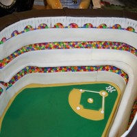1923 Yankee Stadium Cake Made for my friend's husband's 40th birthday yesterday. Took over 24 hours, not counting baking the cakes and making frostings!...