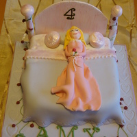 Sleeping Beauty Cake Sleeping beauty cake, vanilla sponge with pink buttercream filling, fondant covered. Sleeping Beauty and all decoration is made from...