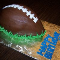 Football Cake This is a carved WASC cake. (My first carved cake.) It looked like a giant pecan! It was fun to make. TFL