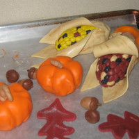 Fall Harvest mini pumpkins, indian corn, acorns