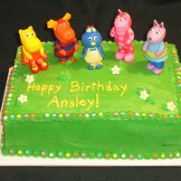 Backyardigans Birthday This was a last minute cake (found out about it Thursday night for Saturday morning). The cake is buttercream with fondant flowers and...