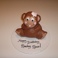 Monkey Mars Cake Last minute cake for a girl's birthday. Made with Wilton 3-D bear pan and decorated in buttercream.