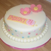 3 In 1 Birthday Made 3 cakes looking the same with 3 different flavours for 3 little girls including my niece for one big party in a park. This is one of...