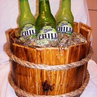 Beer Cake everything is edible except the rope