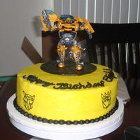 Transformer Cake I saw a design like this (thanks to whoever it is) and I used it for my friend's cake. Her son loved it!