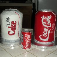 Coke Cans A client requested we make her favorite drinks for her birthday cakes, and that's exactly what we did. All in buttercream, even the...