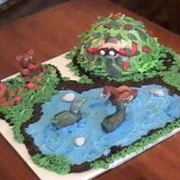 Bil's Bday I did this 3-D Fondant scene for my BIL. He likes to hunt, and I copied the design from Wilton. My pic is not too good though, I am no...