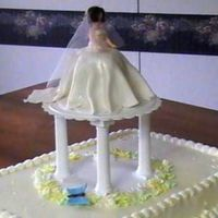 Shower Cake  I made this for my DIL's bridal shower. This is the very first time I ever used the cake plates and the pillars. . There are some...