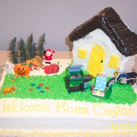Welcome Home Cake This cake was ordered by a Mom that wanted to celebrate a years worth of holidays with her son who was coming home from overseas so we fit...