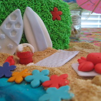 Bridal Shower Luau Cake