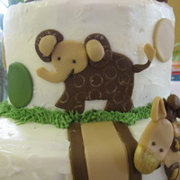 Lambs And Cocoa Shower Cake