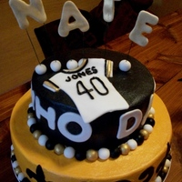 Nate's 40Th Birthday Made this for my brother's 40th birthday. He loves the Saints. Thanks for the many inspirations on cake central!!