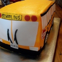 School Bus Cake I did for my brother who drives a bus.