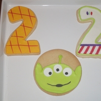 Toy Story Cookies Found a picture of these online and had to make them for my son's second birthday. They were a hit!