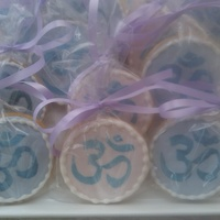 Yoga Cookie Favors Favors made for a yoga class with the symbol for OM.